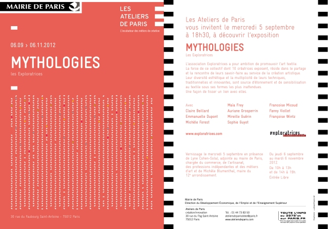 EXPO 'Mythologies' - Ateliers de Paris, Paris (FR) - 6 sept.-6 nov. 2012 dans Ateliers de Paris